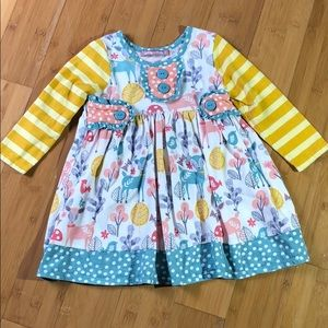 Jelly the Pug Juliette Woodland Knit Dress 2T